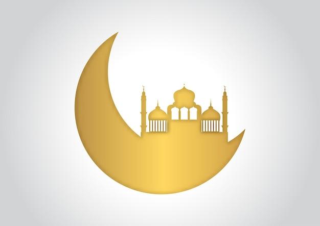 Dekorativer arabischer hintergrund in gold und weiß