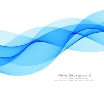 Dekorativer blauer wellenhintergrund