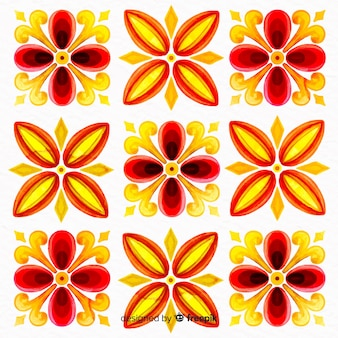 Dekorativer blumenaquarell-farbenhintergrund