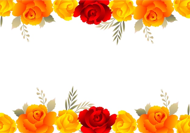 Dekorativer bunter blumenhochzeitseinladungskartenhintergrund
