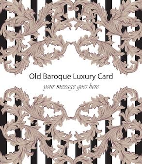 Dekorativer dekor der barocken musterillustration handgemachter. gestreifte hintergrundtexturen. schwarz und weiß