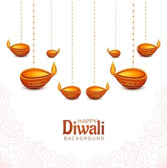 Dekorativer diwali öllampenfestivalfeiertagshintergrund
