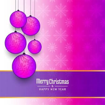 Dekorativer eleganter rosa hintergrund der frohen weihnachten