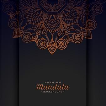 Dekorativer ethnischer mandalamusterhintergrund