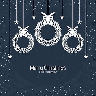 Dekorativer festfesthintergrund für frohe weihnachten