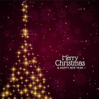 Dekorativer festlicher sternenklarer baum der frohen weihnachten