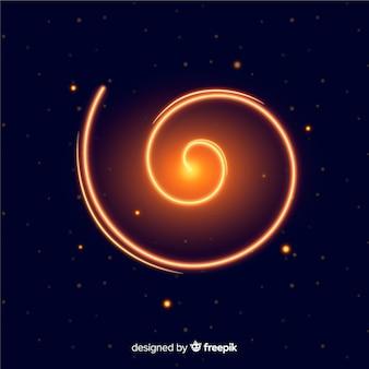 Dekorativer glänzender goldener spiraleffekt