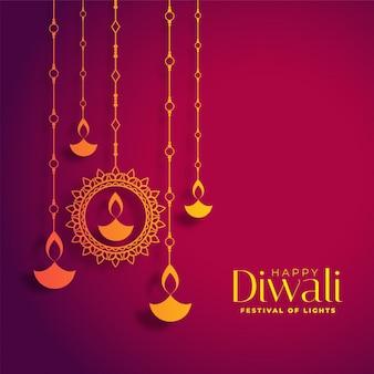 Dekorativer glücklicher diwali festivalhintergrund