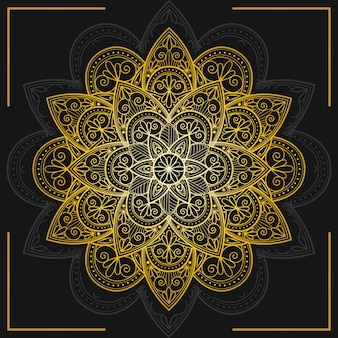 Dekorativer goldener mandalahintergrund