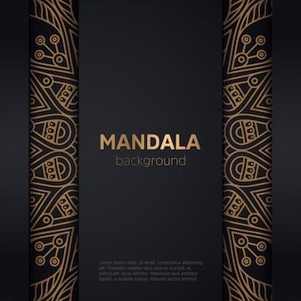 Dekorativer goldener mandalaluxusrahmen
