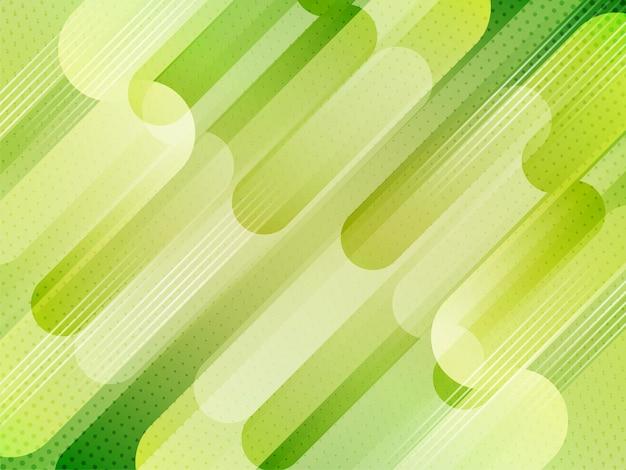 Dekorativer grüner moderner geometrischer streifenhintergrundvektor