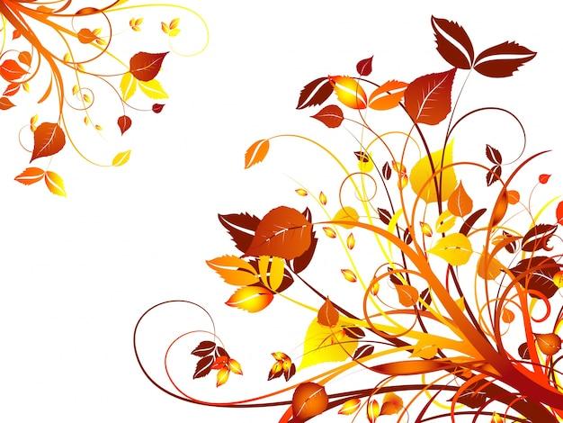 Dekorativer herbstblumenhintergrund