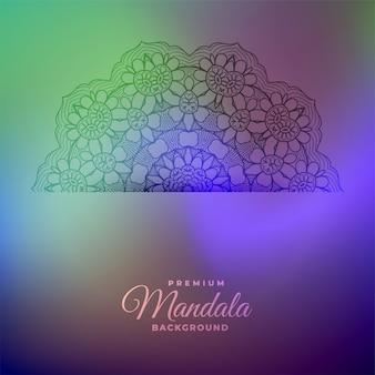 Dekorativer hintergrund der abstrakten mandala