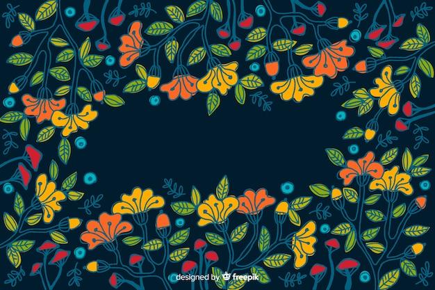 Dekorativer hintergrund der bunten gemalten blumen