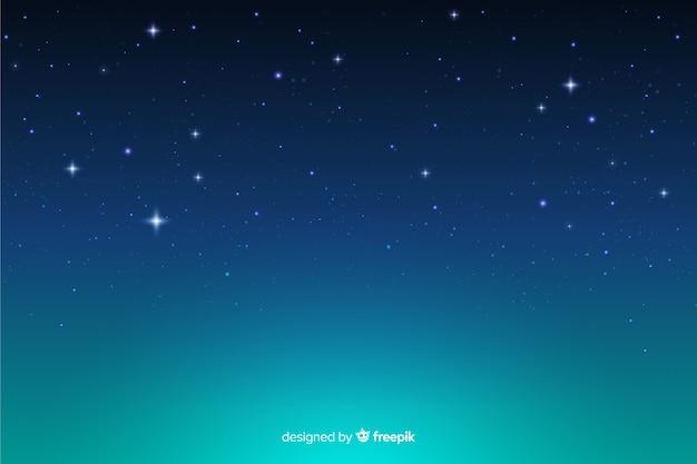 Dekorativer hintergrund der sternenklaren nacht der steigung