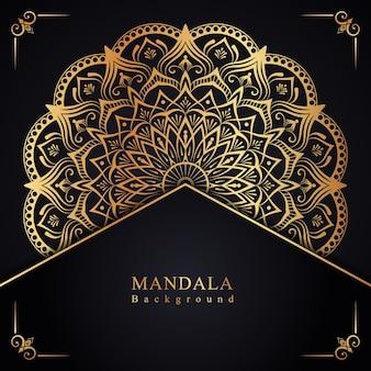 Dekorativer hintergrund des abstrakten goldenen mandalas