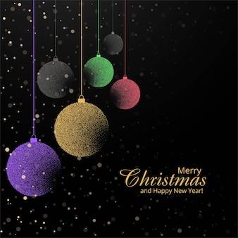Dekorativer hintergrund des eleganten weihnachtsbunten balls