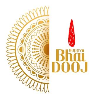 Dekorativer hintergrund des indischen stils bhai dooj