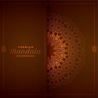Dekorativer hintergrund des stilvollen mandalas