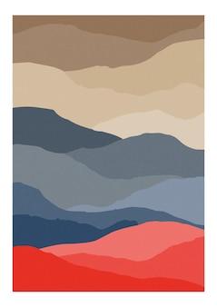 Dekorativer hintergrund mit abstrakter welliger oder gestreifter textur.