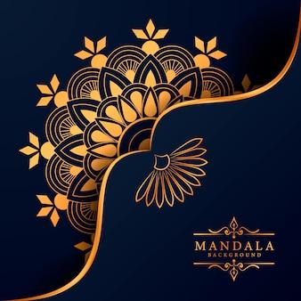 Dekorativer hintergrund mit einem eleganten luxus-mandala-design