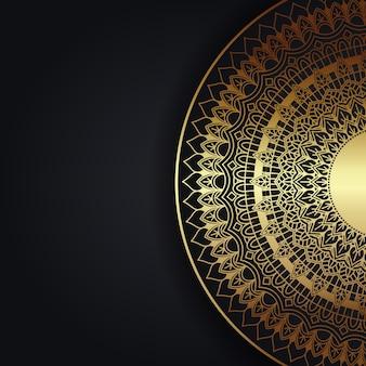 Dekorativer hintergrund mit einem eleganten mandala-entwurf