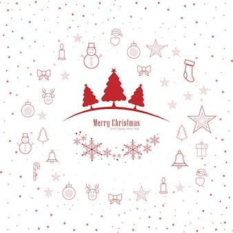 Dekorativer hintergrundvektor der frohen weihnachten grußkarte