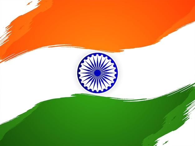 Dekorativer indischer flaggenentwurf unabhängigkeitstag-hintergrundvektor