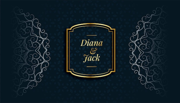 Dekorativer islamischer stilmusterhintergrund des königlichen mandalas
