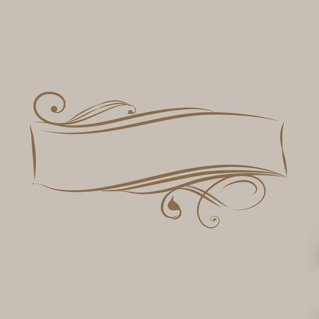 Dekorativer kalligraphischer verzierungsfahnenvektor