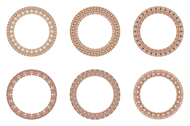Dekorativer kreisförmiger runder rahmensatz