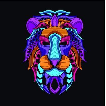 Dekorativer löwenkopf