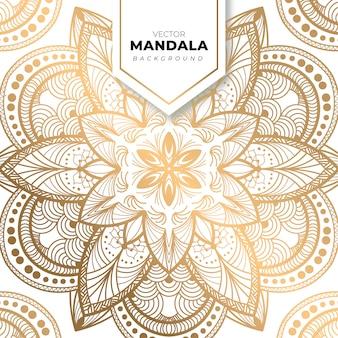 Dekorativer luxus-mandala-designhintergrund in goldfarbe