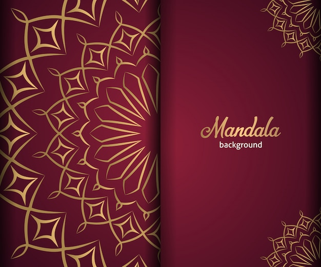 Dekorativer luxusmandalahintergrund in der goldenen farbe