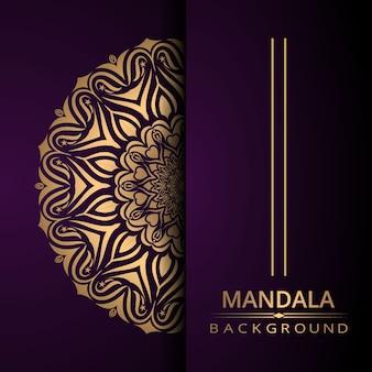 Dekorativer mandala-designluxushintergrund mit goldener farbe