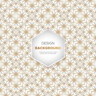 Dekorativer mandala-luxusdesignhintergrund in der goldfarbe