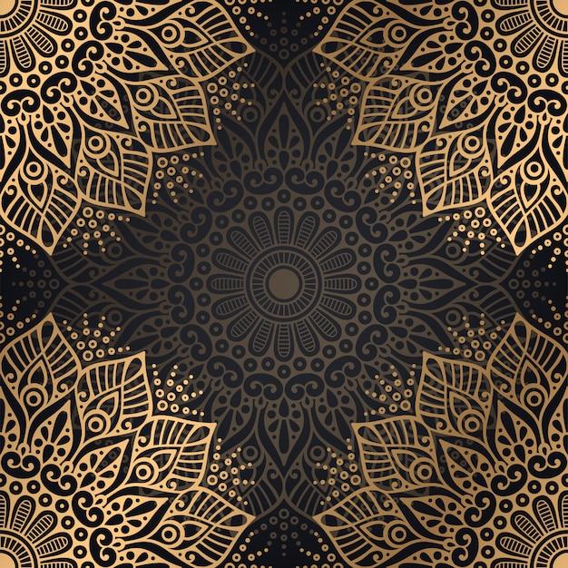 Dekorativer mandala-luxusdesignhintergrund