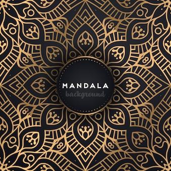 Dekorativer mandala-luxushintergrund