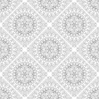 Dekorativer mandala-musterluxushintergrund