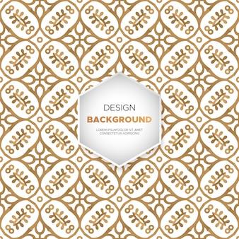 Dekorativer mandaladesignhintergrund im goldfarbvektor