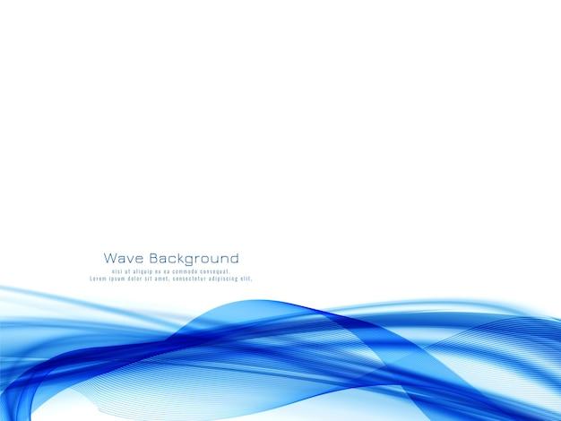 Dekorativer moderner hintergrund des blauen wellenentwurfs