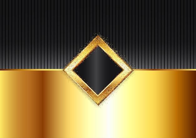 Dekorativer moderner hintergrund in gold und schwarz