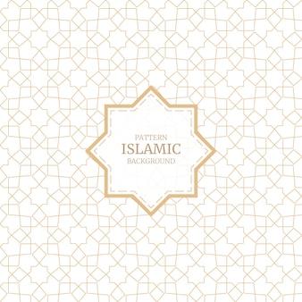 Dekorativer nahtloser musterhintergrund der arabischen islamischen artverzierung