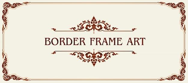 Dekorativer royal vintage rahmen und bordüre