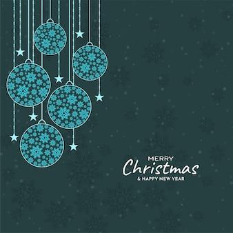 Dekorativer schöner frohe weihnachten hintergrund