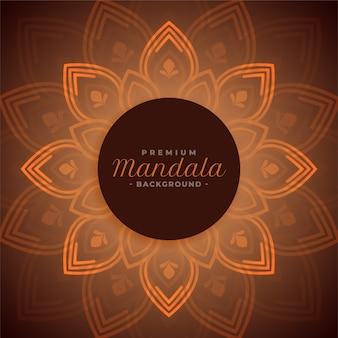 Dekorativer schöner mandala-hintergrundentwurf