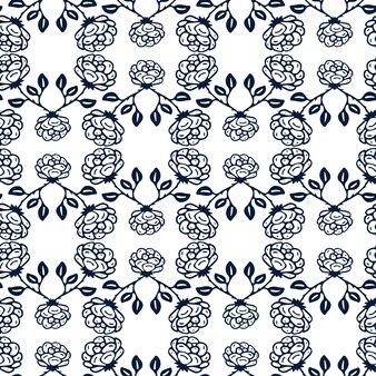 Dekorativer schwarzweiss-rosenhintergrund