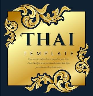 Dekorativer traditioneller thailändischer kunstrahmen