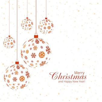 Dekorativer vektorhintergrund des weihnachtsballs
