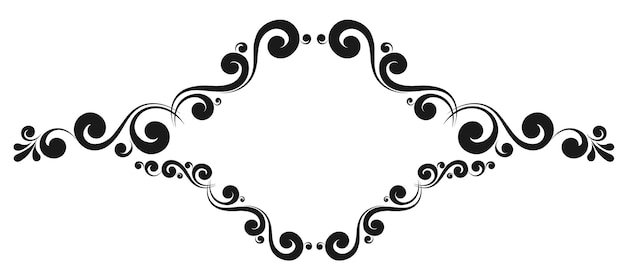 Dekorativer vektorrahmen-monogramm-rahmen. vorlagen für beschilderung, logos und etiketten